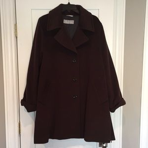 Max Mara Pure Virgin Wool Coat, Cocoa, US Size 12